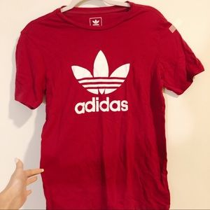 Adidas Trefoil T-Shirt Red Berry Maroon